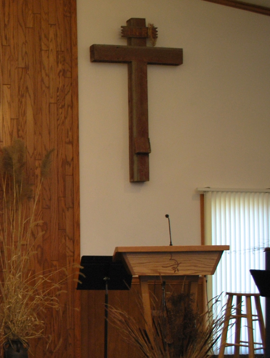 The cross in the sanctuary welcome to burr oak church 1 leichty sharon julia history of the jasper newton county indiana amish settlement and the miller amish cemetery 224 225 biocorpaavc Images